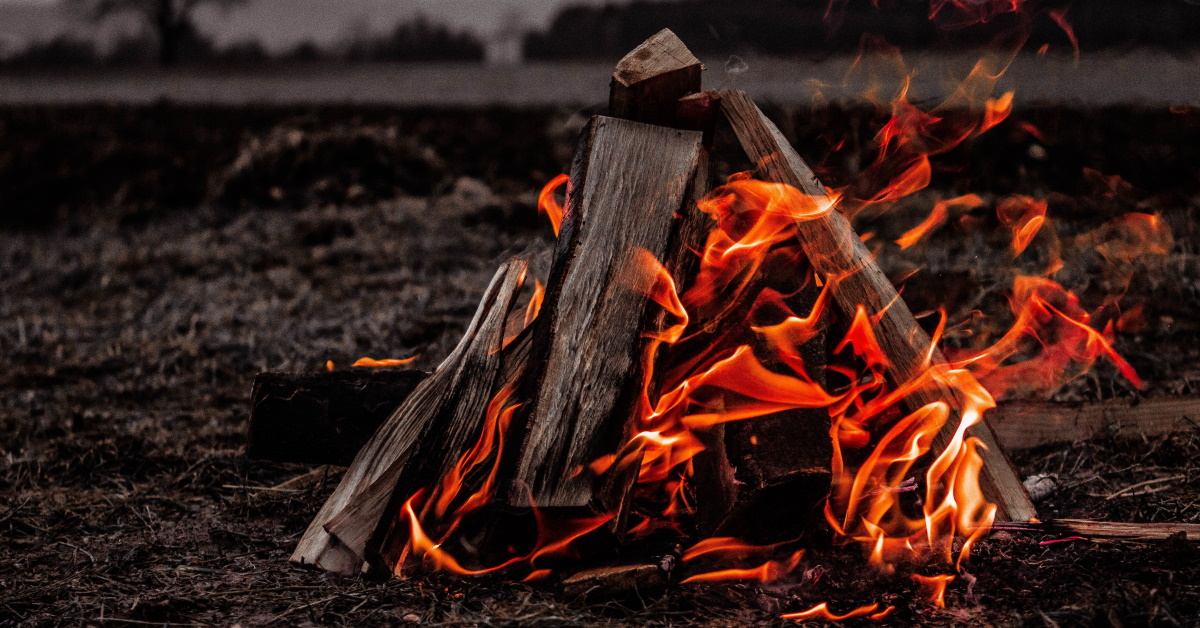 The fire on the altar must be kept burning, it must not go out. Every morning the priest must add firewood… Leviticus 6:12